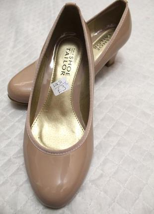Качественные туфли the shoe tailor, новые!!! оригинал!!кожа на широкую стопу