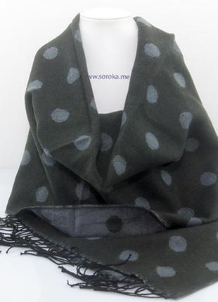Большой шарф стильный горох -3