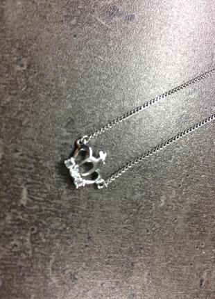Только до 20.12! серебряная цепочка с короной (бесплатная доставка)