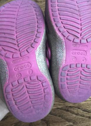 Crocs блестящие 7