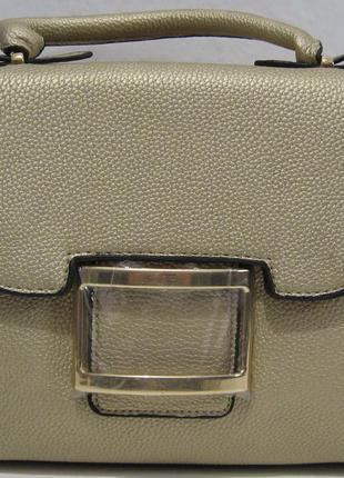 Стильный клатч с замочками (золотой) 18-03-042