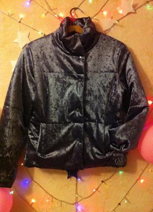 Куртка женская велюровая бархатная