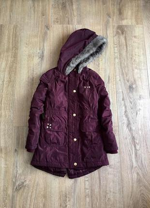 Демисезонная куртка, парка f&f 6-7лет, р.122см