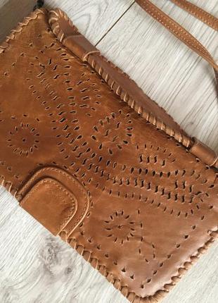 Натуральная кожаная визитница сумка портмоне для документов