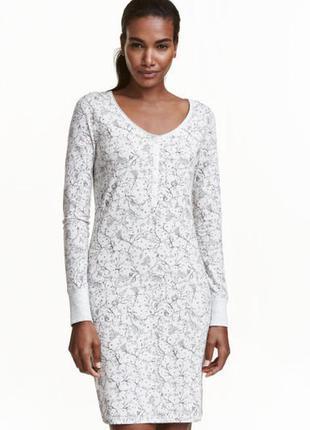 Новое пижамное платье h&m, ночнушка, для дома