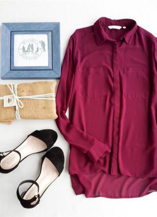 Шифонова блуза марсала від new look