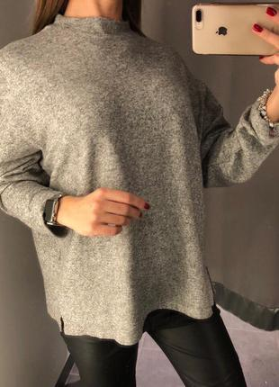 Мягенький свитерок оверсайз amisu. xs-xl