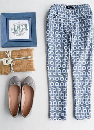 Укороченные брюки в принт от new look
