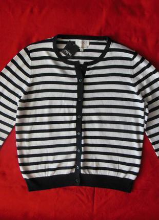 Новая кофта ( свитер, джемпер) next в полоску на пуговицах