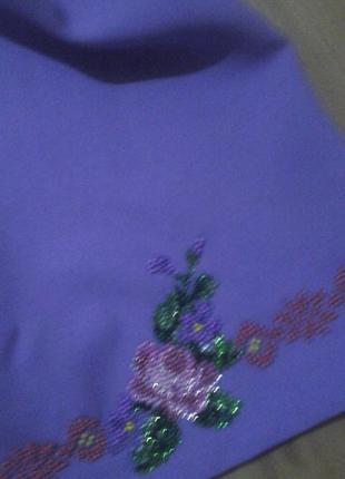 Платье вышитое бисером костюм вышиванка2
