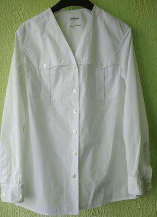 Белая хлопковая рубашка от hermes