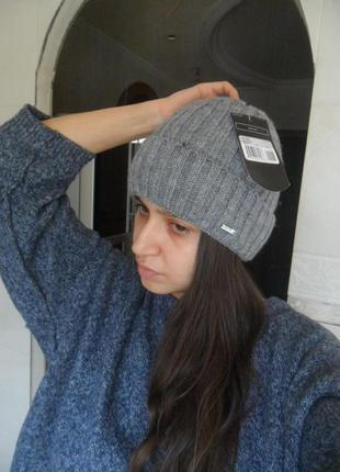 ... Стильная шапка с отворотом полушерсть 8792cdc5aa179