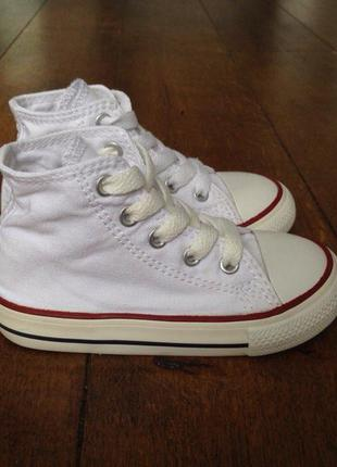 09299a5dc98b Высокие белые кеды converse (оригинал) 23 р., 14 см. (по факту 14.5 ...