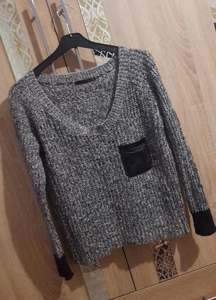 Стильный свитерок оверсайз с 1 карманом