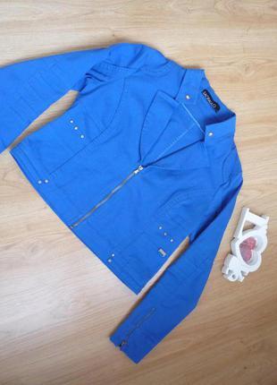 Пиджак небесно голубого цвета / хлопок / sao paulo