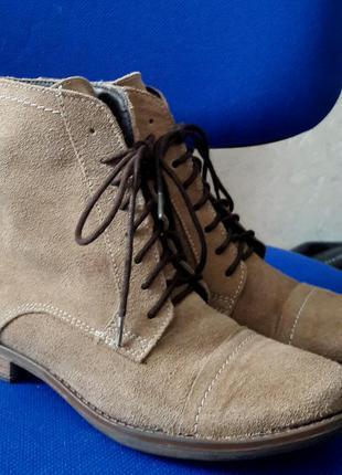 Шикарные кожаные бежевые ботинки38р фирми catwalk