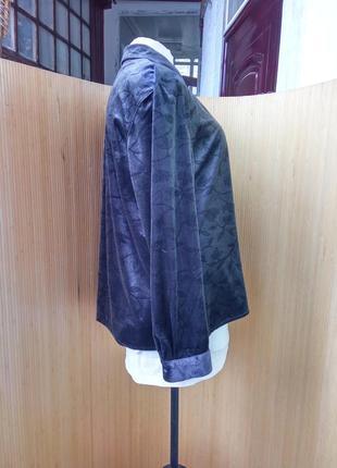 Пепельно серая блуза фактурный велюр l/xl3