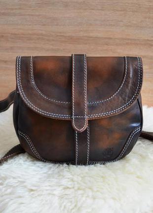 Стильна сумка з натуральної шкіри від timberland