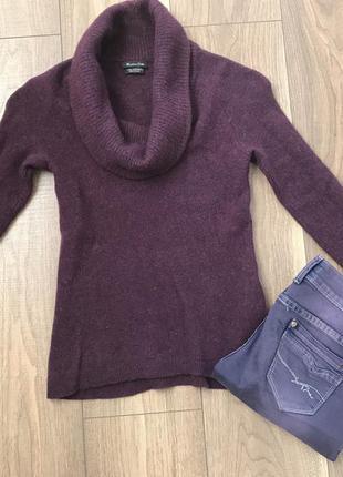 Дорогой шерстяной свитер massimo dutti