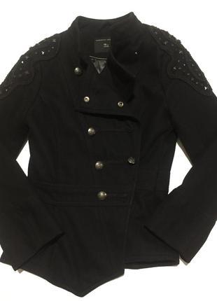 Чёрное пальто dorothy perkins