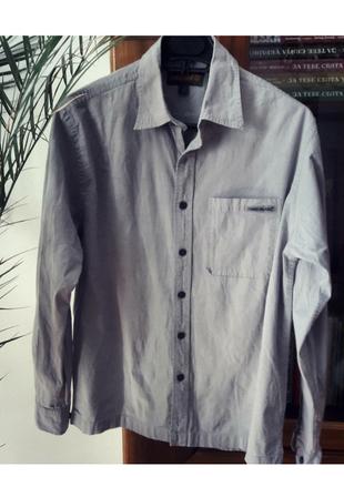 Серая рубашка timberland