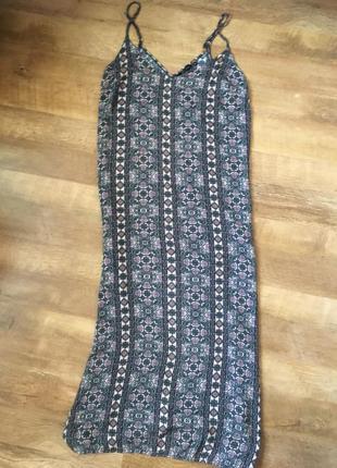 Длинный сарафан платье  вискоза   в принт
