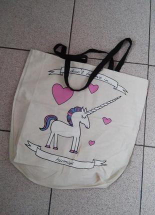 Супер цена! милейшая сумка с единорогом primark