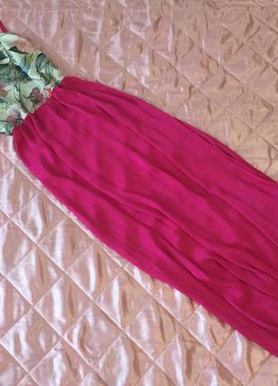 Платье, шикарное платье - сарафан в пол, на двойных бретельках в цветочный принт💖⭐️🌸