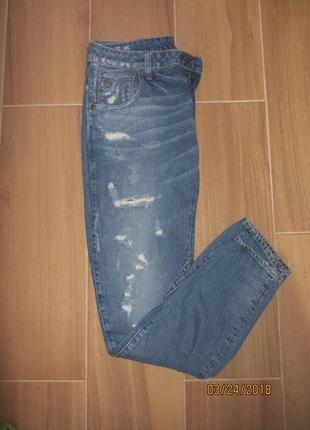 Мужские рваные джинсы от g-star raw ark 3d slim размер 32/32