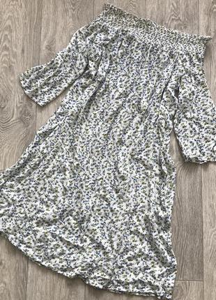 Белое платье сарафан в цветах f&f