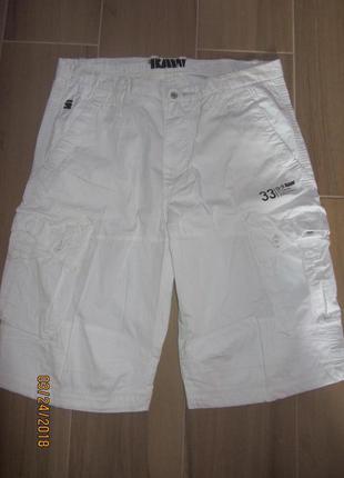 Мужские шорты от g-star raw denim originals размер 36