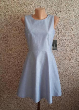 Голубое платье, сарафан zara! размер s