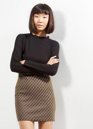 Эластичная юбка мини в орнамент new look new look
