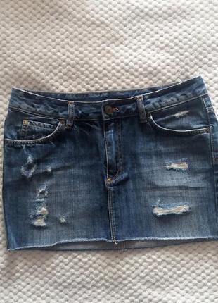 Короткая джинсовая юбка h&m divided, размер s, оригинал