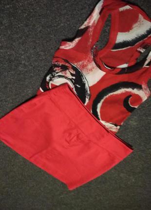 Мини юбка красный цвет, р. 8-10,