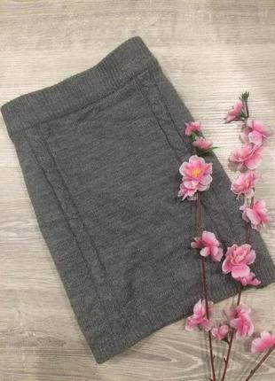 -50%   вязаная юбка gina tricot