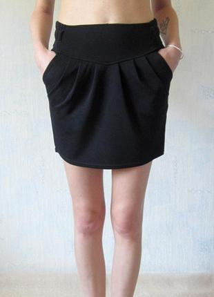 Стильная черная юбка tally weijl