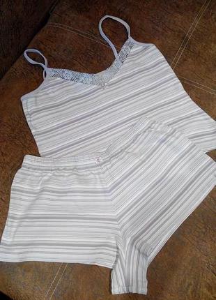 Женская пижама / комплект для сна / шорты и топ