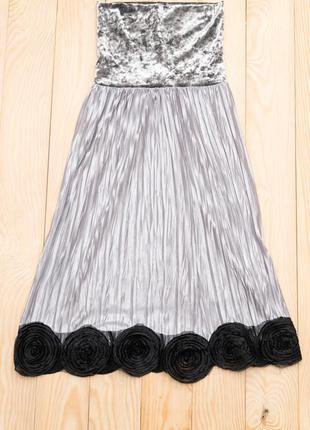 Платье с велюром