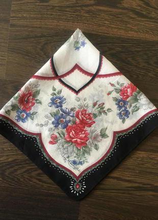 Батистовый подписной носовой платок 43см*43см