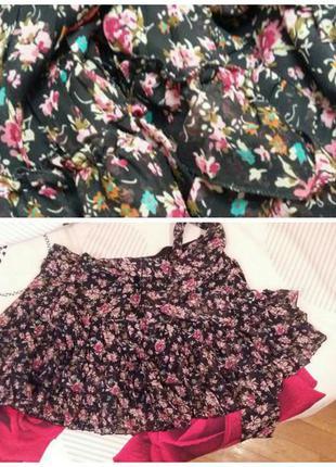 Мини юбка в стиле бохо house спідниця міні