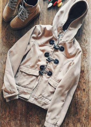 Трендовое коротенькое пальто дафлкот с капюшоном от la redoute 🔥