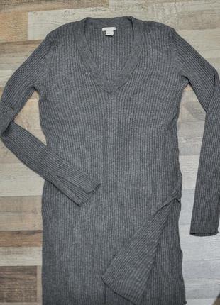 Свитер платье туника в рубчик