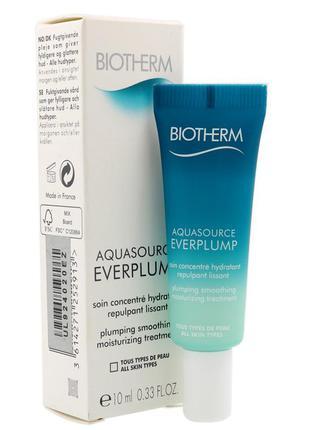 Biotherm aquasource everplump лечебный увлажняющий крем-гель для кожи лица 10 мл.
