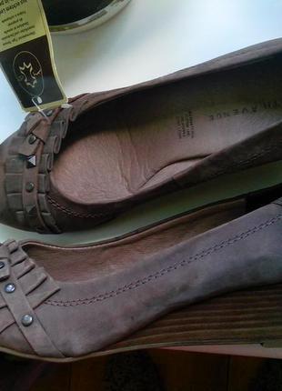 Рр 38-24,5 см новые стильные балетки на танкетке туфли от 5 th avenue