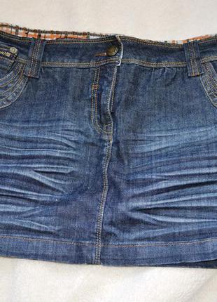 Джинсовая юбка мини new look
