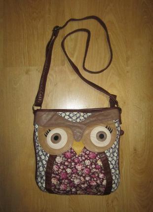 Кожаная сумка с совой фирмы authentic