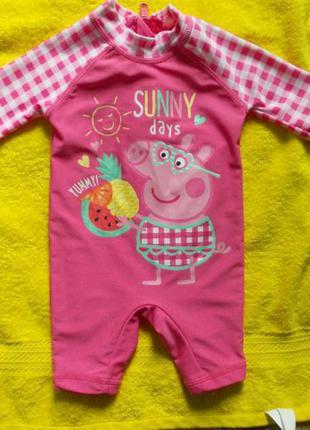 Купальный костюм с солнцезащитный фактором для девочки 0 - 3 мес.