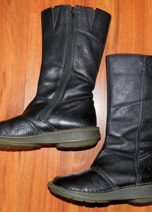 Dr. martens! оригинальные, кожаные, удобные сапоги на низком каблуке