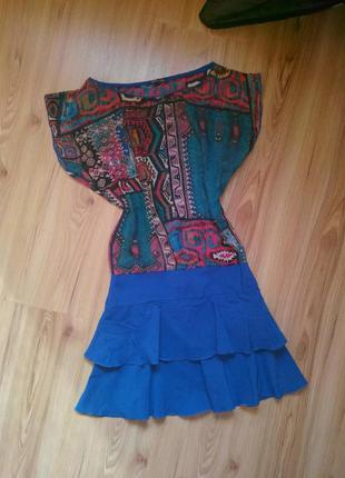 Красивое летнее платье, размер примерно xs - s